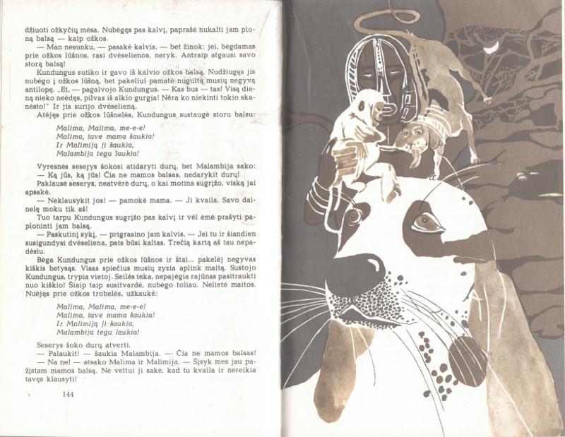 Lapė ir liūtas: Afrikos pasakos. Vyturys, 1986