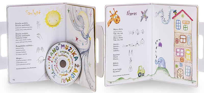 """Linos Beržinienės ir Sonatos Latvėnaitės-Kričenienės knygos """"Mano lagaminas"""" (Muzikija, 2014) atvartai"""